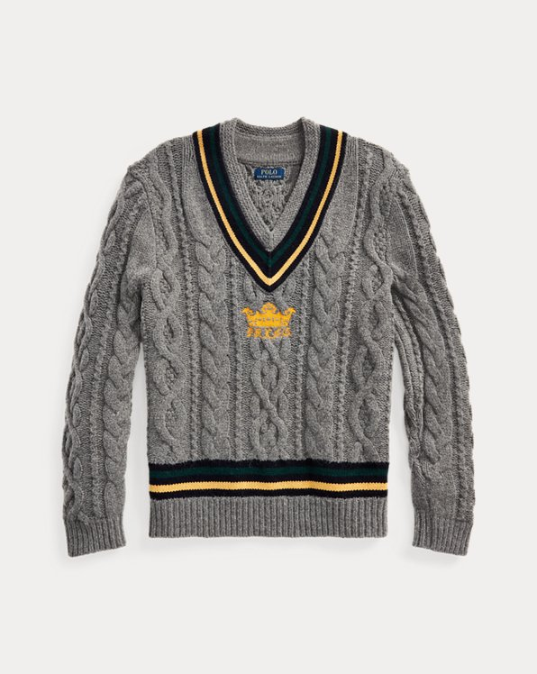 Embroidered Cricket Jumper