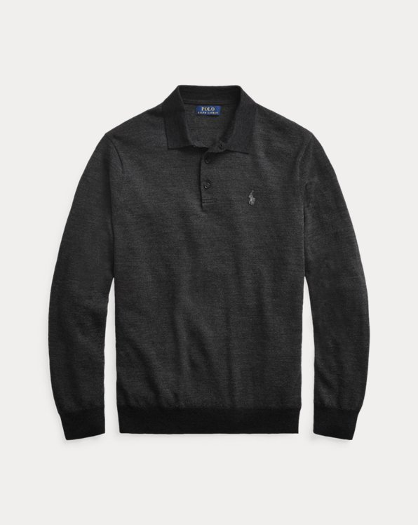 Merino Wool Polo-Collar Jumper