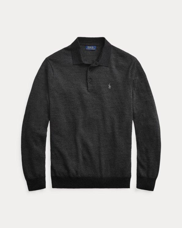 Merino Wool Polo Sweater