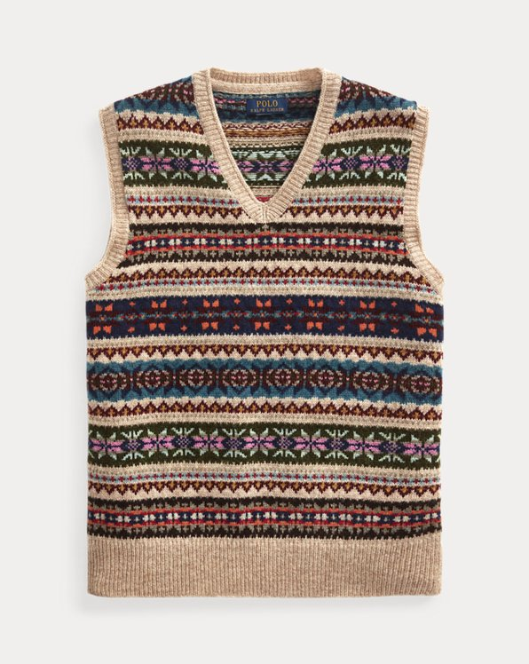 Fair Isle Short-Sleeved Jumper