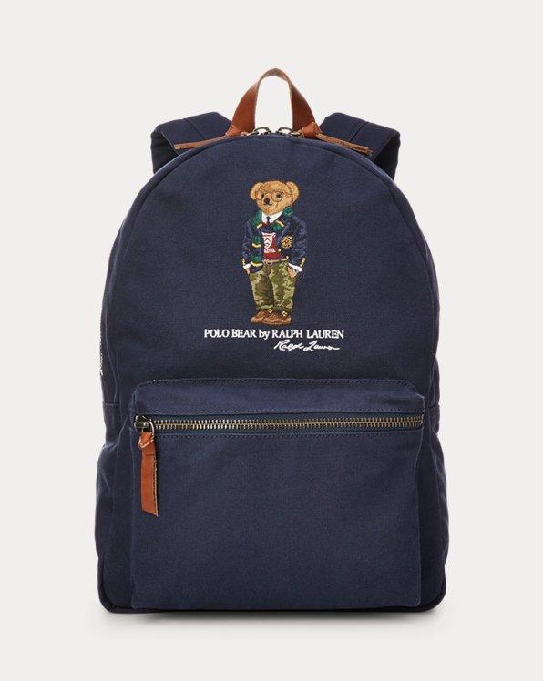 Polo Bear Canvas Backpack