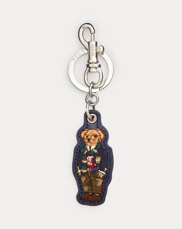 Polo Bear Leather Key Fob