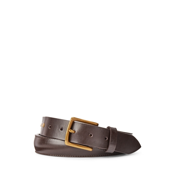 폴로 랄프로렌 Polo Ralph Lauren Brass Buckle Leather Belt,Teak Bridle