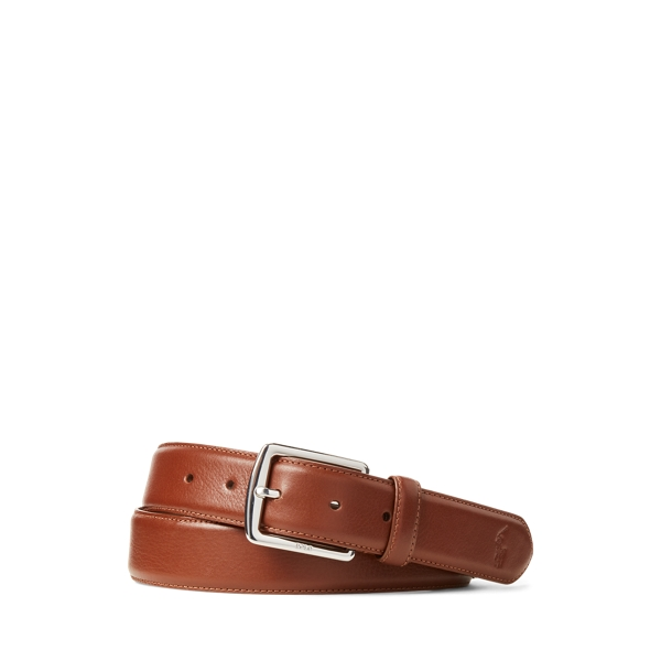 폴로 랄프로렌 Polo Ralph Lauren Full Grain Leather Dress Belt,Brown