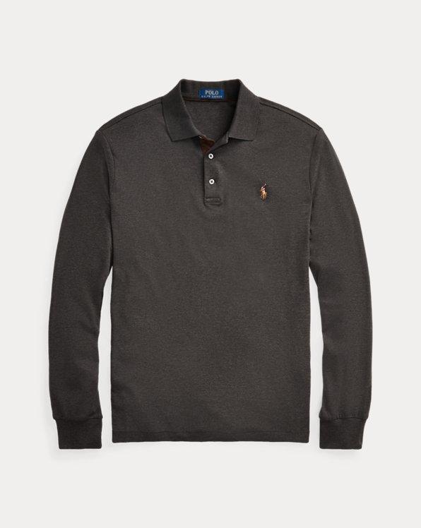 Langarm-Polo aus weicher Baumwolle