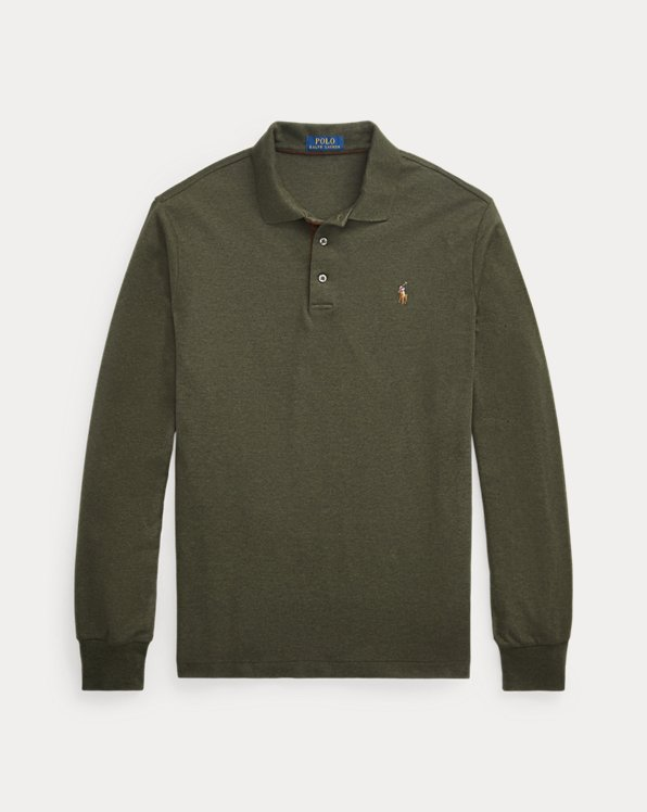 Soft Cotton Long-Sleeve Polo