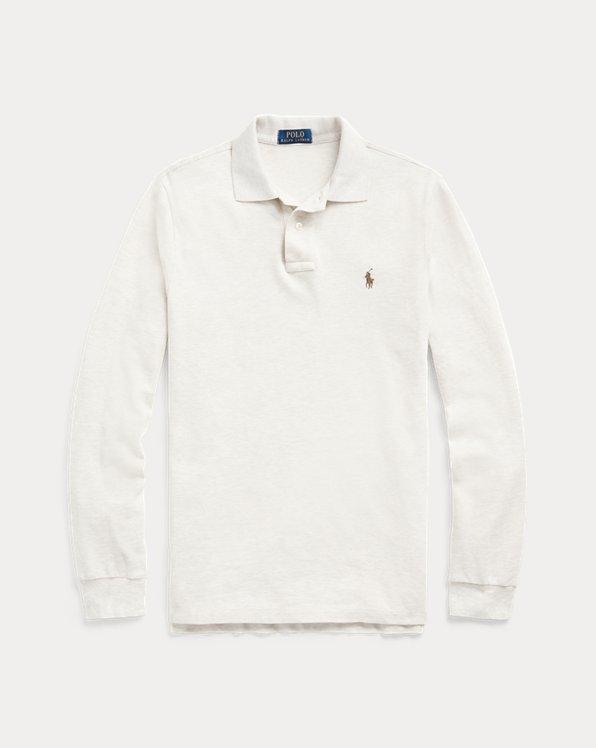 Langärmliges Piqué-Polohemd