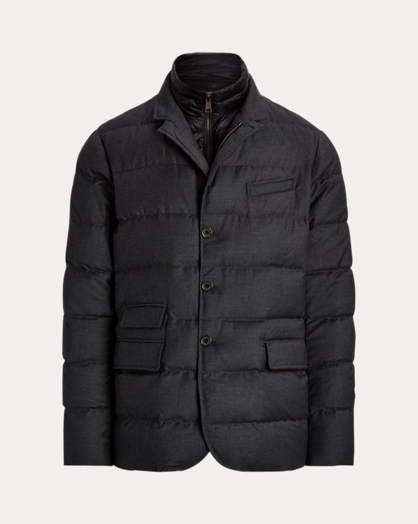 Layered-Effect Down Jacket