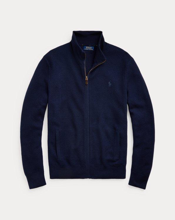 Maglia in lana con cerniera