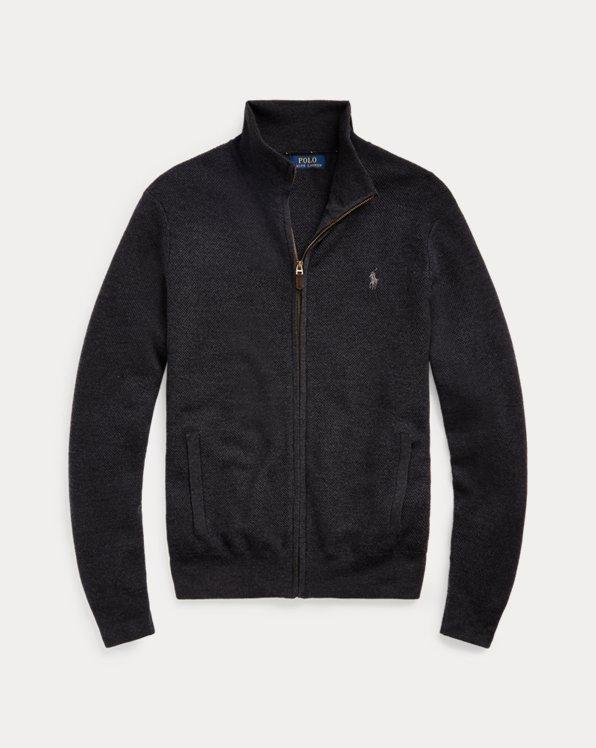 Pull entièrement zippé en laine