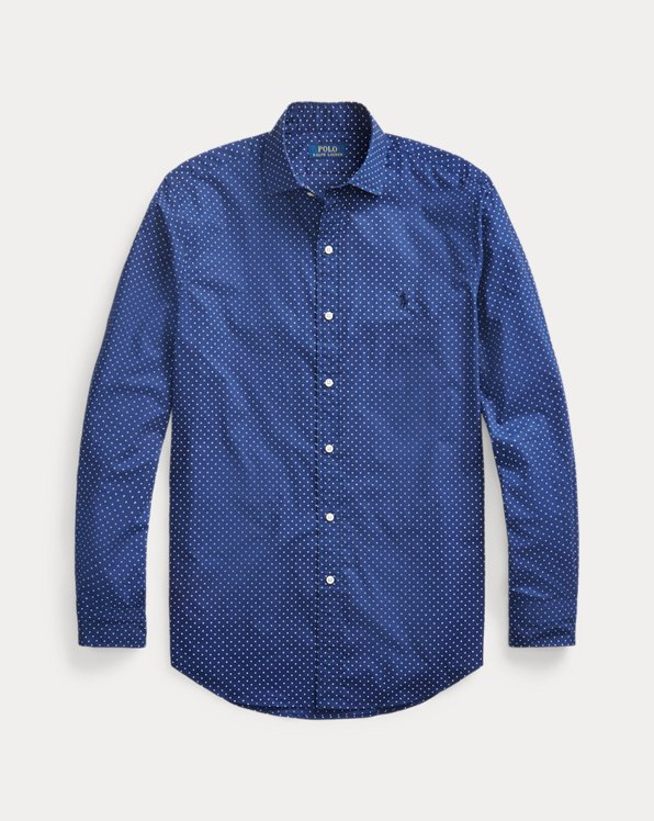 Slim Fit Dot Poplin Shirt