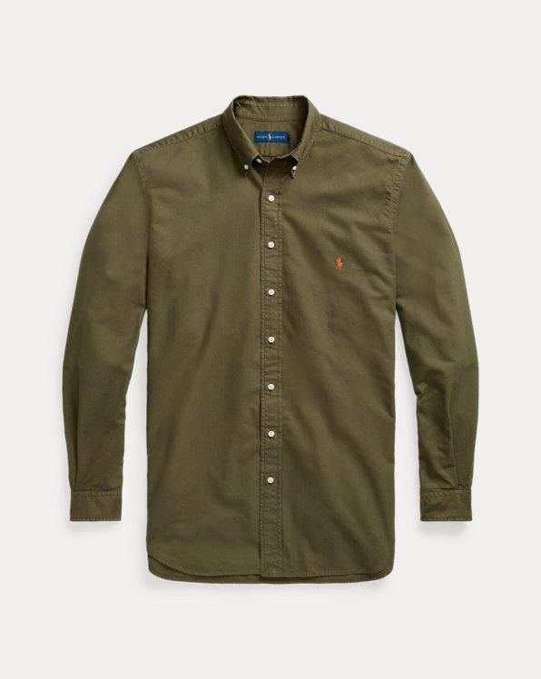 Custom Fit Garment-Dyed Oxford Shirt
