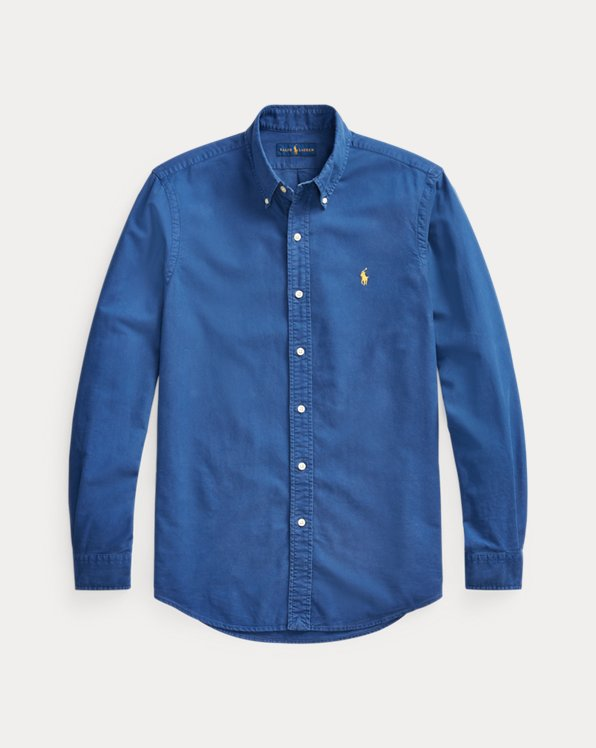 Custom Fit Garment-Dyed Oxford Shirt