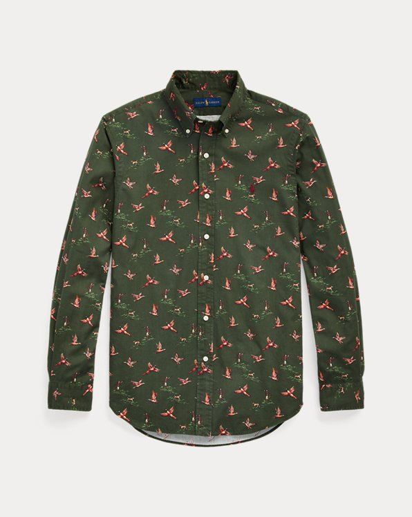 Slim Fit Pheasant Chino Shirt