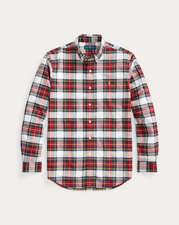 Slim Fit Plaid Oxford Shirt