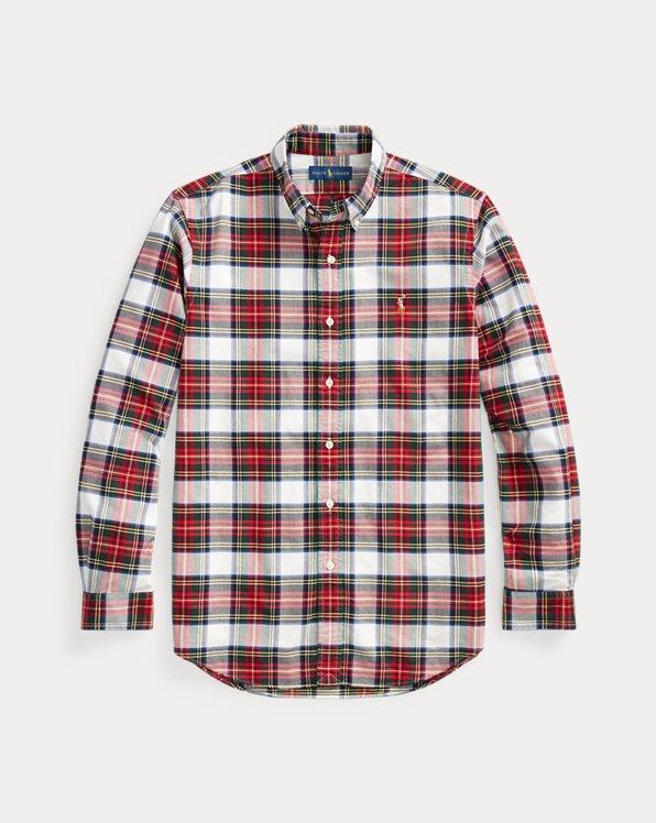 Kariertes Slim-Fit-Oxfordhemd
