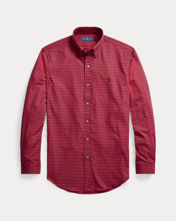 Custom Fit Checked Twill Shirt