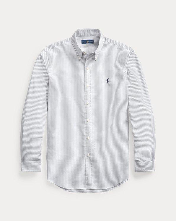 Custom Fit Striped Poplin Shirt