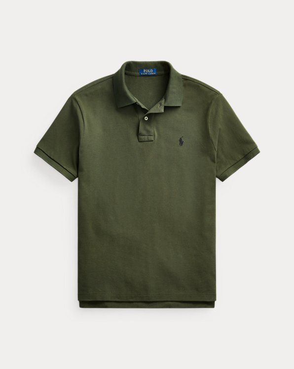 Custom Slim Fit Mesh Polo Shirt