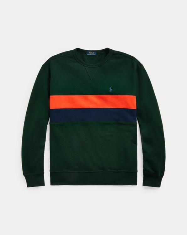 Fleece-Sweatshirt mit Streifen