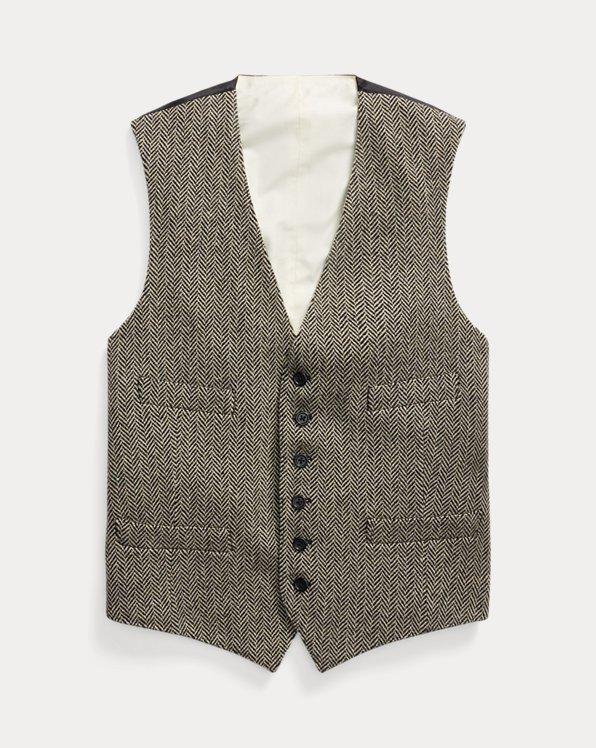 Herringbone Wool-Blend Waistcoat
