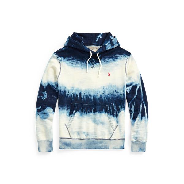 Ralph Lauren Indigo Cotton-blend Hoodie In Dark Indigo Cloud Wash