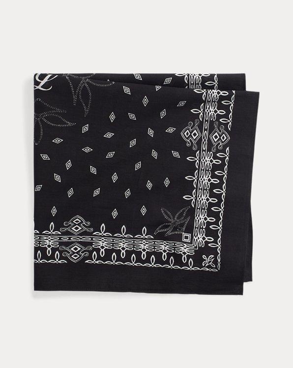 Pañuelo de satén con logo y bandana