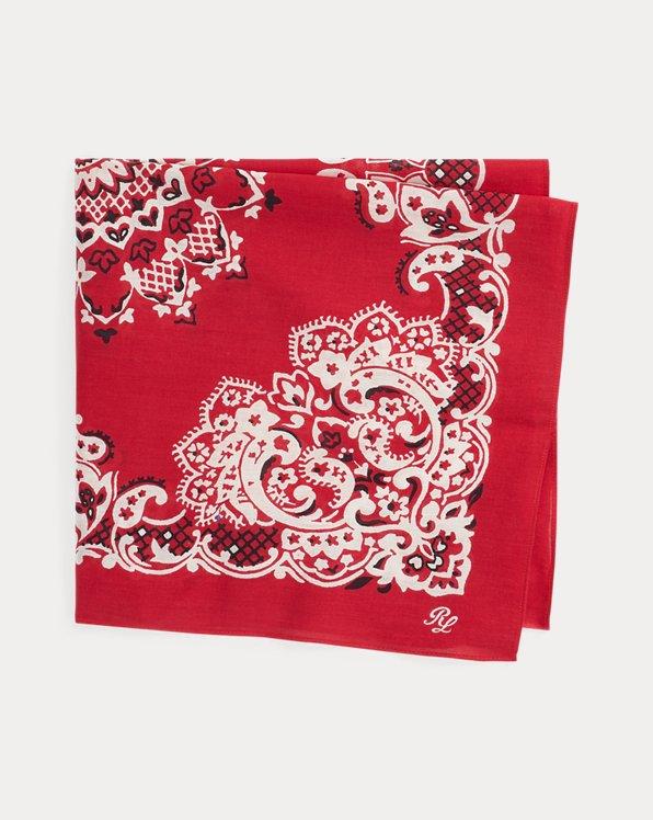 Foulard in cotone stampa bandana