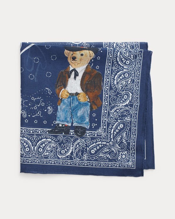 Bandana in cotone con Polo Bear