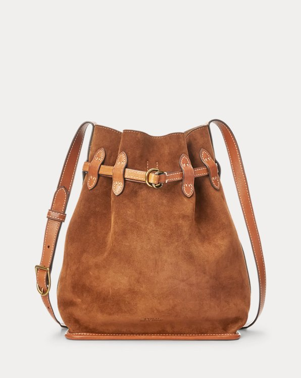 Suede Large Bellport Bucket Bag