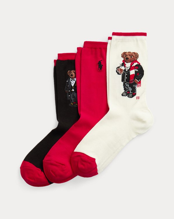 Polo Bear 3-Sock Gift Set