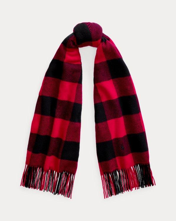 Écharpe en laine à franges