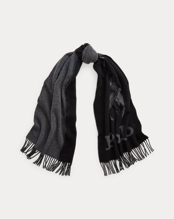 Écharpe à logo en laine mélangée