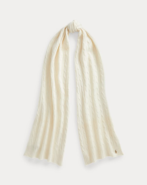 Écharpe laine et cachemire torsadés