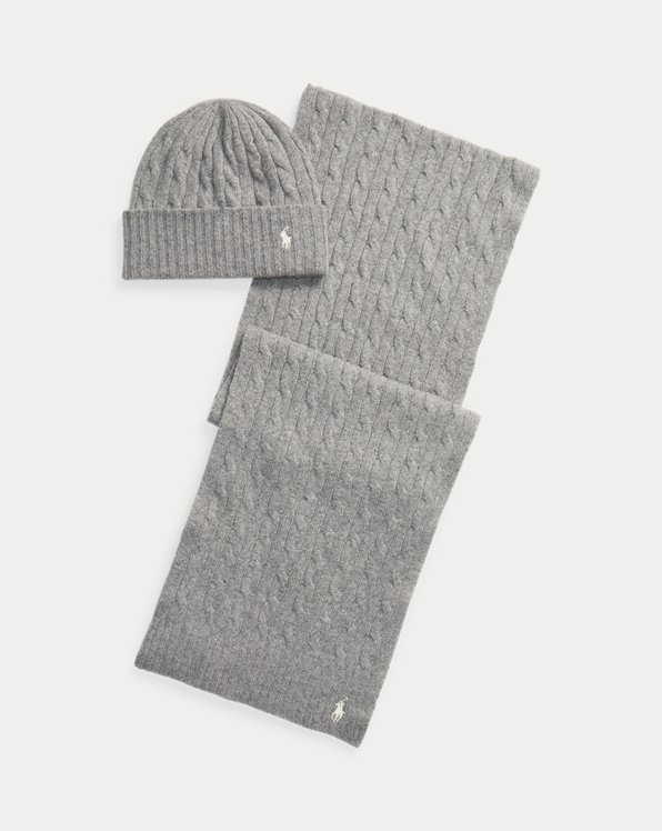 Cable-Knit Hat & Scarf Gift Set