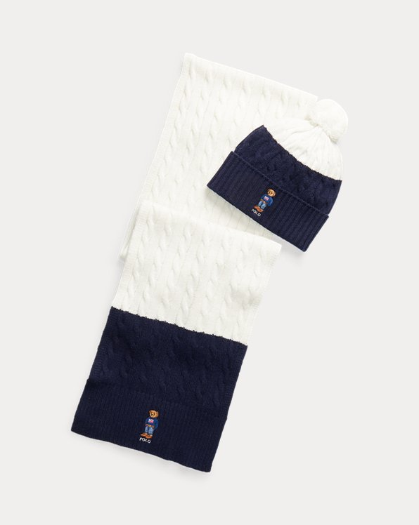Polo Bear Hat & Scarf Gift Set