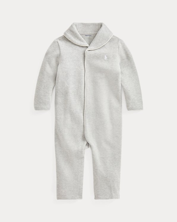 French-Rib Cotton Coverall