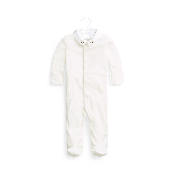 Velour Footed Coverall