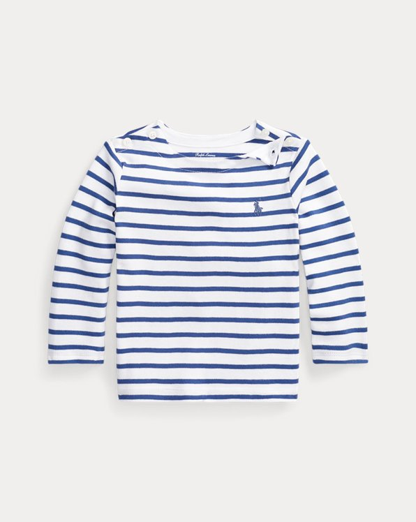 Striped Cotton Interlock Tee