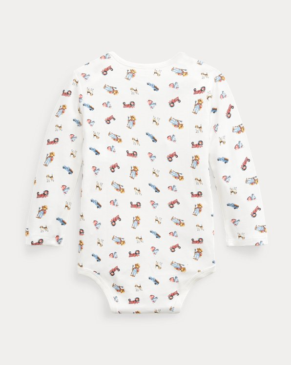 Farmer Bear Cotton Bodysuit