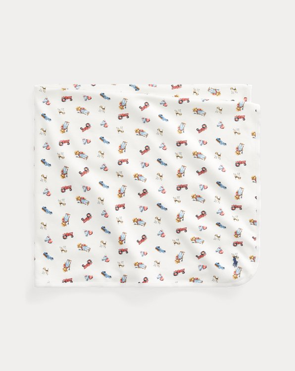 Farmer Bear-Print Blanket
