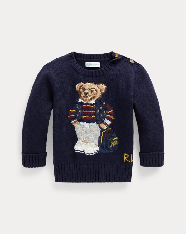 Polo Bear Cotton-Blend Sweater