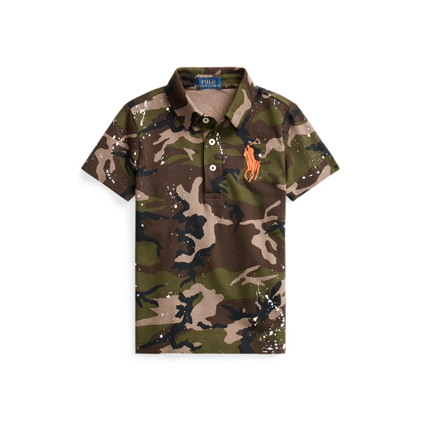 폴로 랄프로렌 남아용 폴로 셔츠 Polo Ralph Lauren Camo Paint-Splatter Mesh Polo,Surplus Camo