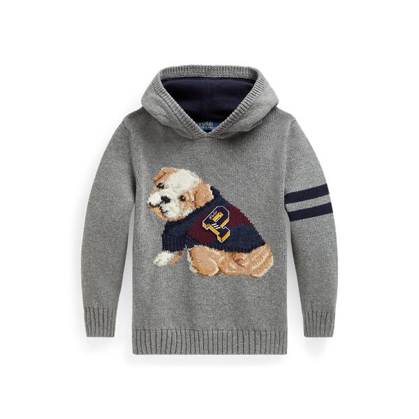 폴로 랄프로렌 Polo Ralph Lauren Dog Cotton-Wool Hooded Sweater,Boulder Grey Heather