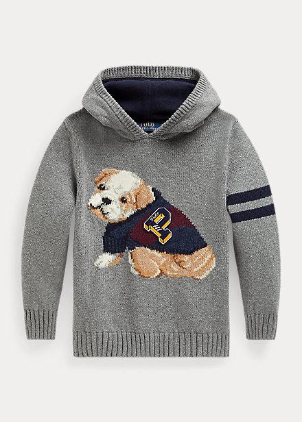 Polo Ralph Lauren Dog Cotton-Wool Hooded Sweater