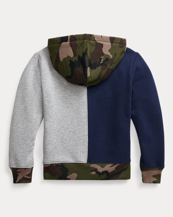 Color-Blocked Fleece Hoodie
