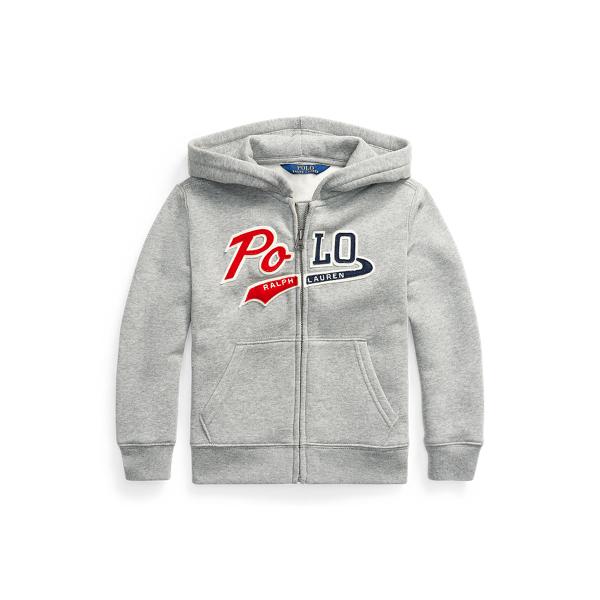 폴로 랄프로렌 Polo Ralph Lauren Logo Fleece Full-Zip Hoodie,League Heather