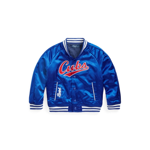 폴로 랄프로렌 남아용 야구 점퍼 Polo Ralph Lauren Cubs Jacket,Rugby Royal/Ralph Red