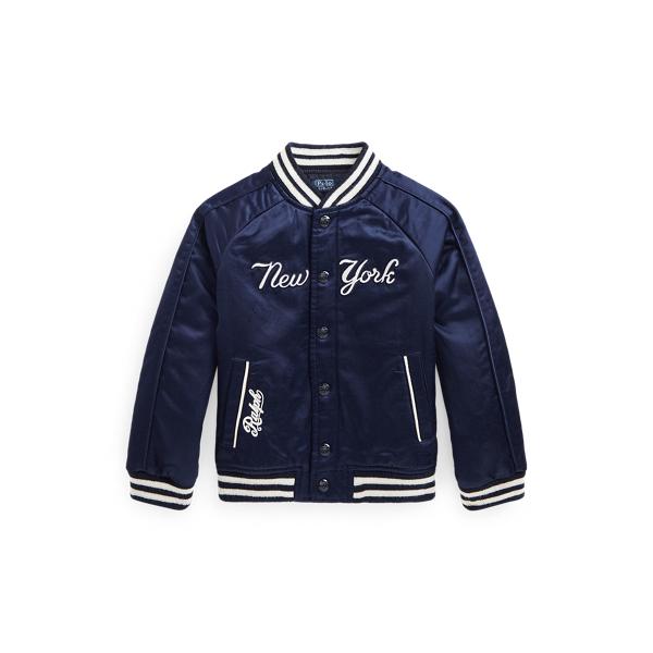 폴로 랄프로렌 남아용 야구 점퍼 Polo Ralph Lauren Yankees Jacket,Aviator Navy/White