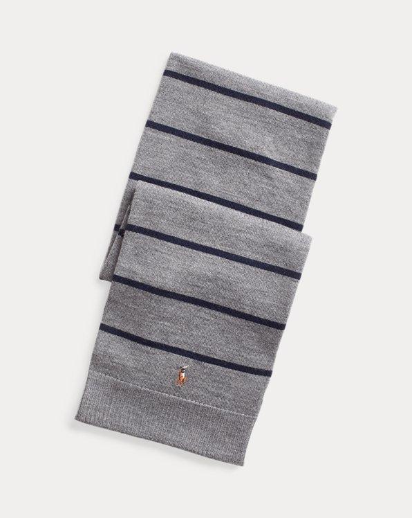 Sciarpa in lana merino a righe